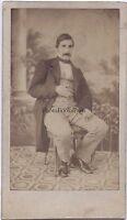 Anonimo Fotografia Primitivo Francia Belgium? CDV Vintage Albumina Ca 1860