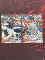 2018 Topps Rafael Devers #18 X2 With Variations SP Rookie Rc Lot Boston Red Sox