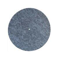 NEW 4mm GREY Felt Platter Mat Turntable Slipmat Record Player Universal Fit *UK*