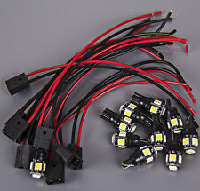 10x White LED T10 921 SMD Light Extension Connector Wiring Harness Socket Holder