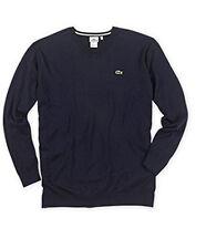 Big Tall Man Lacoste Sweater XLT extra large  XL 8L designer logo blue / grey