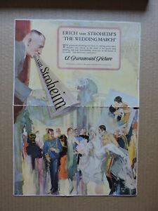 Erich von Stroheim original camapign book insert 1928 The Wedding March