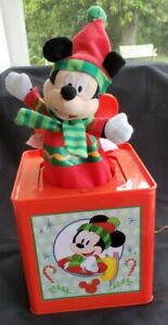 Disney Gemmy 2019 Mickey Mouse Christmas Jack in the Box MUSICAL Toy age 3+ NEW