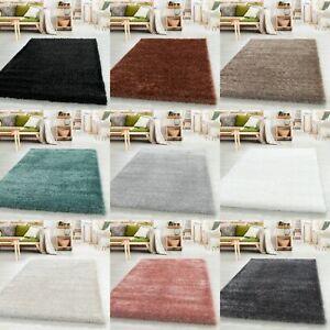 Shaggy Hochflor Teppich Wohnzimmer Weichem Glanz Garn Einfarbig Rechteck Rund