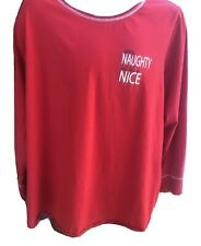 Cacique Lane Bryant RED Soft Comfortable Long Sleeve Plus Size 22 /24 Top Shirt