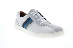 Clarks Un Costa Band 26150550 Mens White Leather Lifestyle Sneakers Shoes