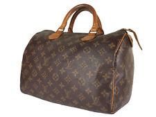 LOUIS VUITTON Speedy 30 Monogram Canvas Leather Hand Bag LH3635