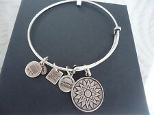 Alex and Ani NEW BEGINNINGS  Russian Silver Charm Bangle New W/ Tag Card & Box