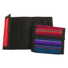 #586 Trifold Wallet ID Bag Bill Holder Credit Card Pocketbook Peru Cotton