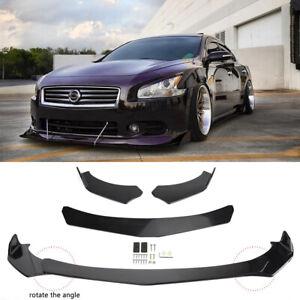 For 09-15 Nissan Maxima ST Front Bumper Lip Chin Spoiler Splitters Glossy Black