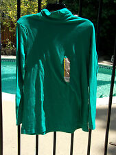 Turtleneck Long Sleeve top M Green NWT