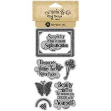Graphic 45 Cling Stamps – Portrait of a Lady 1 - 8 Stamp Set New