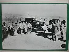 REPRODUCTION SUR SUPPORT RIGIDE PHOTO BREGUET XIV DESERT PILOTE ARMEE 28/40 CM