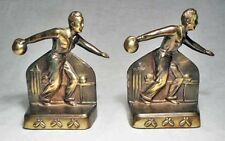 Bowler/MINT Gray Metal Bookends circa 1940s/Appears to be made by Dodge