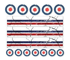 ROYAL AIRFORCE MOD DISTRESSED AIR DECALS Road Mountain Bike Bicycle Stickers