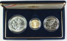 1994-W Gold $5 & D Silver $1 & 50 Cents World Cup 3 Coin BU Comem Set in OGP JAH