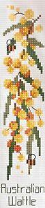 "Country Threads ""Golden Wattle"" Australian Bookmark Counted Cross Stitch Kit"