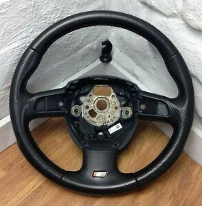 Genuine Audi A3 8P black leather, 3 spoke DSG steering wheel,  S Line etc.   17D