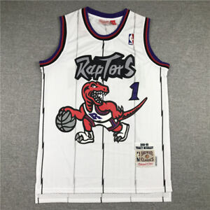 New Tracy McGrady Toronto Raptors Throwback White Stitched Jersey Size S-XXL
