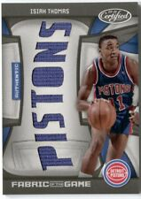 Isiah Thomas 2009-10 Panini Certified Fabric of the Game Pistons 7 Jersey /25 SP