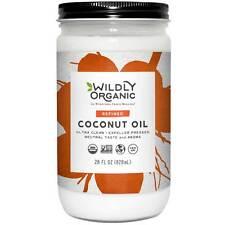 Wildly Organic Coconut Oil Refined (Expeller Pressed), Non-GMO, 28 FL OZ