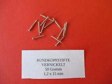 Rundkopfstifte - Nägel - vernickelt - 1,2 x 15 mm - 50g