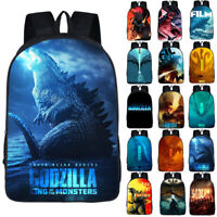 3D Godzilla Kids Students Backpack School Travel Bag Unisex Laptop Rucksack Gift