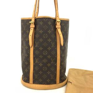 100% Authentic Louis Vuitton Monogram Bucket GM Shoulder Bag/62083