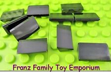 New LEGO Mini Slopes Lot of 10 Black 1x2x2/3 Roof Brick Minifig Roof Part Pieces
