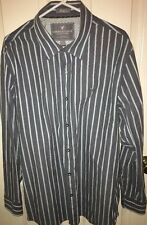 AMERICAN EAGLE OUTFITTERS MEN'S BUTTON FRONT STRIPED SHIRT VINTAGE FIT SIZE XXL