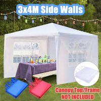 Gazebo Marquee Party Tent Side Wall Window Waterproof Garden Canopy Cover