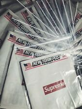 SUPREME NEW YORK POST NEWSPAPER COLLECTION FW 2018 NEW UNUSED BOX LOGO COVER