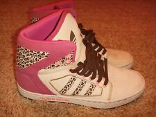 Adidas Trainers High Top Pink Animal Print Womens Size 7.5