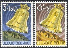 BELGIQUE 1963 la paix Bell/musique/Cloches/Culture/fonds/animation 2 V Set (n43222)