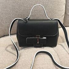 100% Authentic Delvaux Simplissime City PM Bag Black/white
