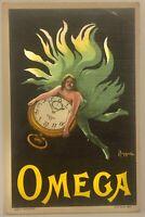 Orologi Omega cartolina Pubblicitaria Leonetto Cappiello