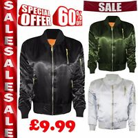 New Ladies Classic Padded Bomber Jacket Zip Up Biker Celeb Vintage Coat UK 8-14