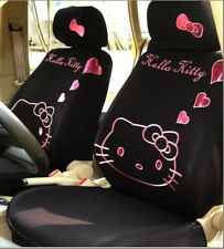 Universal Black Hello Kitty Car Seat Covers Front Rear Cover Accessory Set 10Pcs