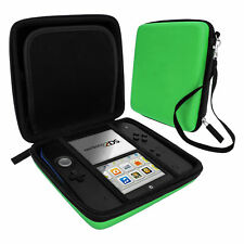 Carry Case for 2ds Nintendo Hard Protective Eva Bag Game Storage Green ZedLabz