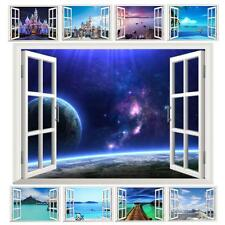 Decorative wall window space landscape castle sea living room poster decal art