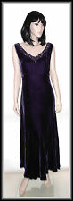 Country Casuals Sleeveless Velvet Silk Mix Purple Dress size UK 12  EUR 40