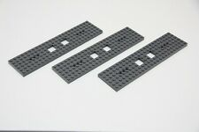 3x LEGO Train Parts Carriage Engine 6x24 Grey Base Chassis Plate 92088