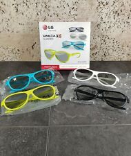More details for lg cinema 3d glasses party pack 4 pairs assorted colours ag-f315