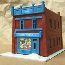 RETIRED ~ DOWNTOWN PRINT SHOP by Model Power ~ Mayhayred Trains N Scale Lot