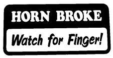 Horn Broke Decal  - Window sticker Car RV Truck ATV Funny Outdoor Vinyl Decal