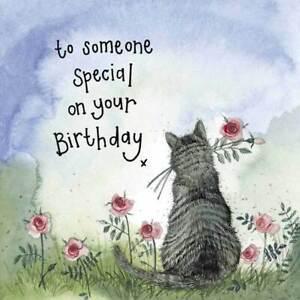 Sunshine Cat and Flowers Birthday Card - Alex Clark Large Sparkle