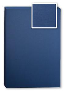 Bindekarton/Deckblatt/Rückblatt, LEINEN,  blau, 100 Stück