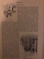 1891 Cincinnati Ohio City Hall Art Museum Cable Road illustrated