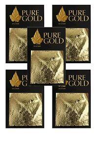 wholesale gold leaf sheets 24CT Gold leaf Gilding, 4.5cm x 4.5cm 5 packs of 10