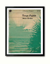 New Order True Faith inspired book-cover style Art Print